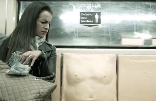 恐怖・不快・感触…男性器つきの座席が伝えた強いメッセージの画像1