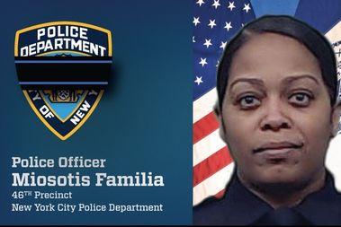 殉職したミオソティス・ファミリア警官(NYPDより)