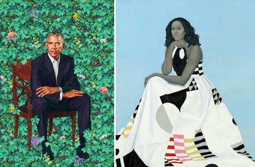 オバマとミシェル肖像画の「謎解き」~低俗な中傷にも品位を保ち続けた夫妻の画像1