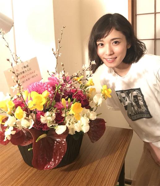 松岡茉優 staff ツイッター(@hiratahirata14)より
