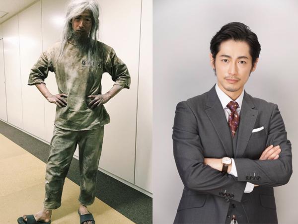 これ(左:脱獄直後)が→こうなる(右:モンテ・クリスト・真海)