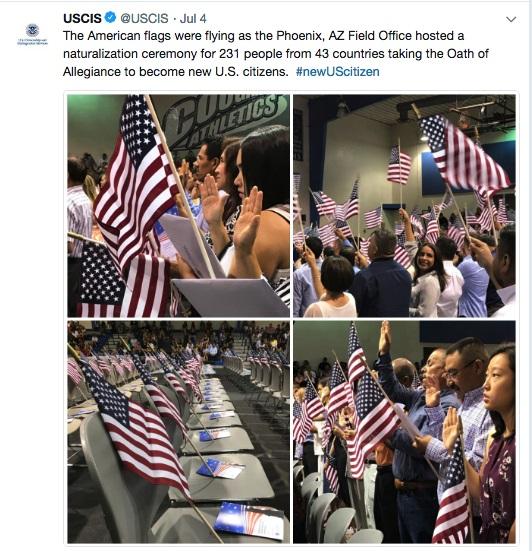 アメリカ独立記念日と、移民の市民権宣誓式〜毎日2,000人がアメリカ人に!の画像1