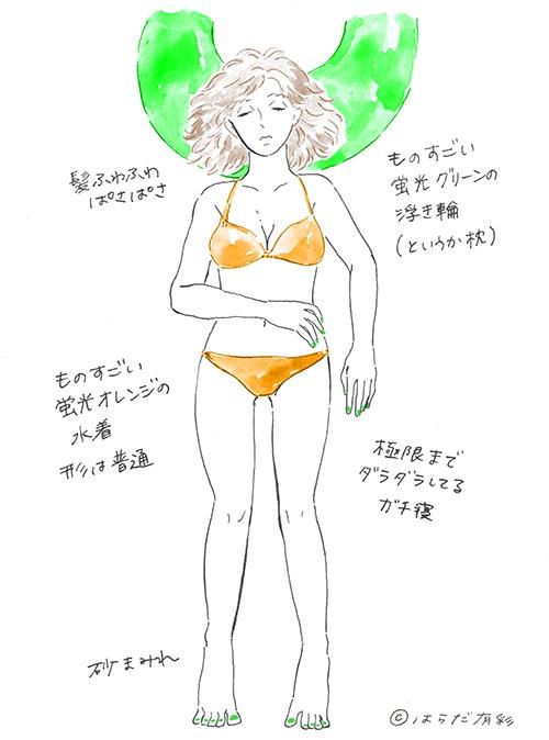 【アメリカ・ハワイ】派手な水着で眠る女性の画像2