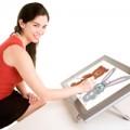 Woman Drawing on Digital Tablet