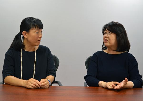 左:治部れんげさん、右:猪熊弘子さん